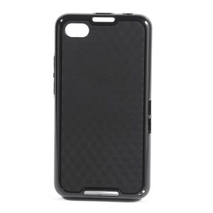 For BlackBerry Z30 TPU & Plastic Hybrid Case 3D Cube Pattern - Black