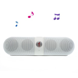 White Fivestar F-808 Pill Design Multi-function Hi-Fi Bluetooth Speaker with MIC Support TF Card FM Hands-free