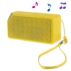 Yellow Rectangle Bluetooth Speaker Support TF Card / FM / Hands-free Call / Line-in (S01)