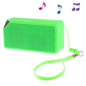 Green Rectangle Bluetooth Speaker Support TF Card / FM / Hands-free Call / Line-in (S01)