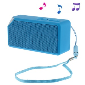 Blue Rectangle Bluetooth Speaker Support TF Card / FM / Hands-free Call / Line-in (S01)