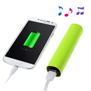 Green 2 in 1 4000mAh Battery Backup Power Bank + Speaker for iPhone Samsung Sony LG HTC