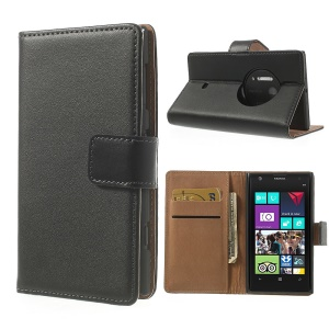 Split Genuine Leather Wallet Leather Case for NOKIA Lumia 1020 EOS 909 RM-876