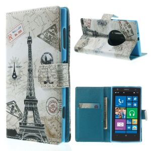 Paris Eiffel Tower PU Leather Stand Case for Nokia Lumia 1020 EOS 909 RM-876