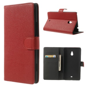 Red Lychee Leather Stand Shell Case for Nokia Lumia 1320 RM-994 RM-995 RM-996
