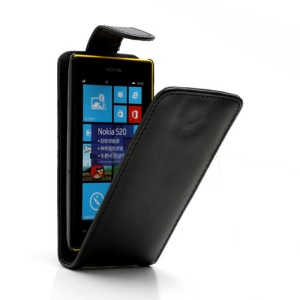 Vertical Leather Magnetic Case Cover for Nokia Lumia 520 525