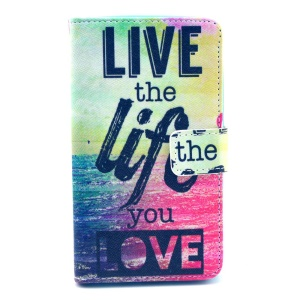 For Nokia Lumia 625 Wallet Leather Stand Cover - Live the Life You Love