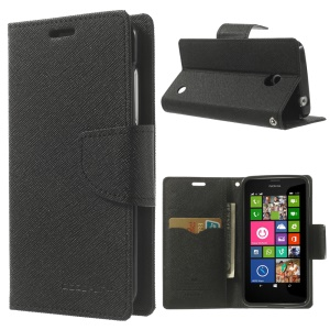 Mercury GOOSPERY for Nokia Lumia 630 Fancy Diary Leather Wallet Stand Cover - Black