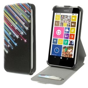 Meteor Shower Vertical Leather Case w/ Card Slot for Nokia Lumia 630