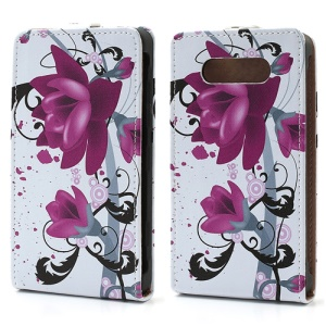 Beautiful Lotus Flower For Nokia Lumia 820 Vertical Leather Shell Case