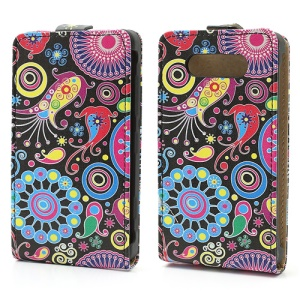 Colorful Flower Ribbon Vertical Flip Leather Case Cover for Nokia Lumia 820