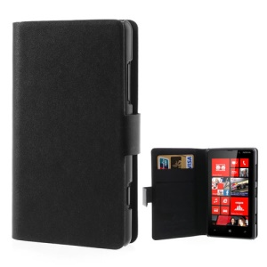Black Doormoon for Nokia Lumia 820 Genuine Leather Wallet Cover