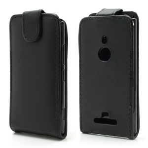 Nokia Lumia 925 Magnetic Vertical Leather Flip Cover Case