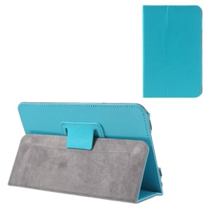 Blue for Lenovo IdeaTab A1000 Crazy Horse Leather Cover w/ Stand