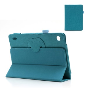 Magnetic Crazy Horse Leather Shell w/ Tri-Fold Stand for Acer Iconia Tab A1-810 7.9-inch - Baby Blue