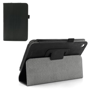 Folio Litchi Texture Leather Stand Case Cover for Lenovo IdeaTab A3000