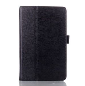 Black Litchi Grain Leather Stand Case for Lenovo IdeaTab A8-50 A5500