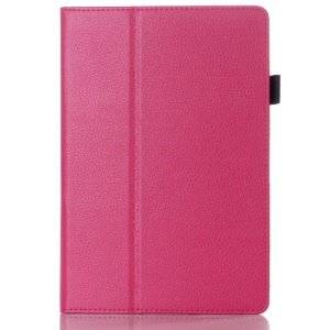 Rose for Lenovo IdeaTab A10-70 A7600 Lychee Grain Textured Flip Leather Cover