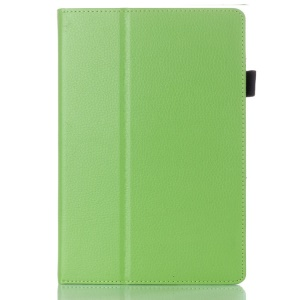 Green for Lenovo IdeaTab A10-70 A7600 Lychee Grain Textured PU Leather Cover