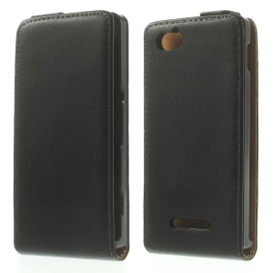 Genuine Split Leather Vertical Flip Cover for Sony Xperia M C1905 C2004