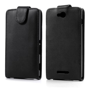Magnetic Vertical Flip Leather Case Cover for Sony Xperia C C2305 S39h