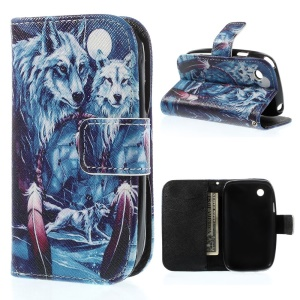 Wolves & Wind Chime Wallet Stand Leather Case Accessory for LG L40 D160