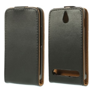 Magnetic Vertical Flip PU Leather + Korean Style Inner PC Case for Sony Xperia E1 D2004 / E1 Dual D2105