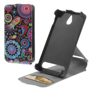 Paisley Flowers Leather Vertical Case for Sony Xperia E1 D2004 D2005 / E1 Dual D2114