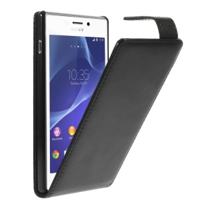 Vertical Leather Magnetic Case for Sony Xperia M2 D2303 D2305 D2306 / M2 Dual D2302