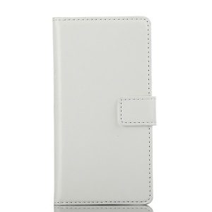 White Crazy Horse Texture Leather Flip Stand Case for Sony Xperia M2 Dual D2302 / M2 D2305