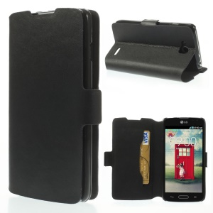 Doormoon Genuine Leather Card Holder Cover for LG L90 D405 D405N - Black