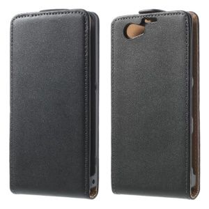 Genuine Split Leather Flip Case Vertical para Sony Xperia Z1 Compact D5503