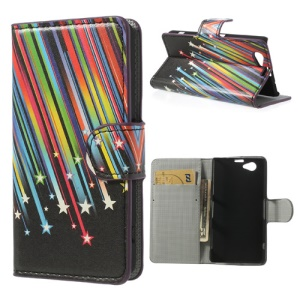 Meteor Shower Wallet Leather Case Stand for Sony Xperia Z1 Compact D5503