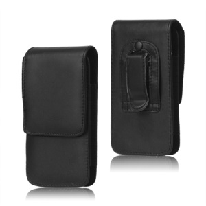 Black Leather Belt Clip Holster Pouch Case for LG Optimus G2 D801 D802, Size: 13.7 x 7.1 x 1.6cm