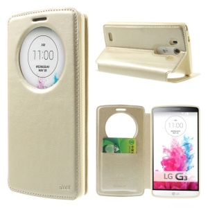 Roar Korea Noble Leather View Flip Stand Case for LG G3 D850 D855 LS990 - Champagne