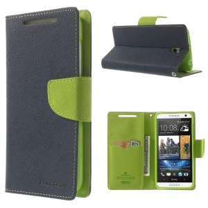 Mercury GOOSPERY Fancy Diary Leather Wallet Stand Case for HTC Desire 610 - Blue