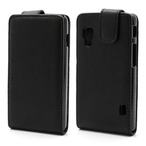 Vertical Magnetic Leather Flip Case Cover for LG Optimus L5 II E460