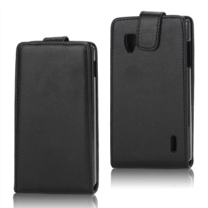 Vertical PU Leather Flip Case Cover for LG Optimus G E973