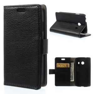 Black Lychee Skin Wallet Leather Stand Case for Samsung Galaxy Ace Style G310