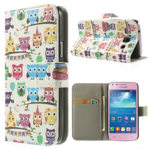 Multiple Owls Wallet Leather Case w/ Stand for Samsung Galaxy Core Plus G3500 G3502