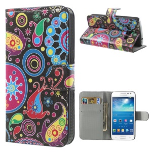 Colorful Flower Ribbon Stand Leather Shell for Samsung Galaxy Express 2 G3815
