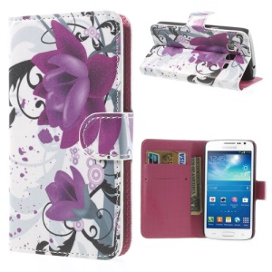 For Samsung Galaxy Express 2 G3815 Beautiful Lotus Flower Wallet Leather Skin Case