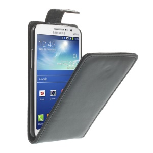 Black Vertical Leather Magnetic Case for Samsung Galaxy Grand 2 Duos SM-G7102 G7100 G710S