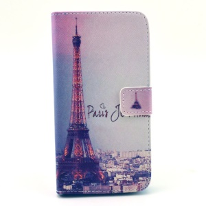 Paris Eiffel Tower Magnetic Leather Stand Case for Samsung Galaxy Grand 2 Duos G7102 G710S