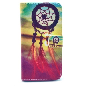 Dream Catcher Leather Stand Cover w/ Card Slots for Samsung Galaxy Grand 2 Duos G7102