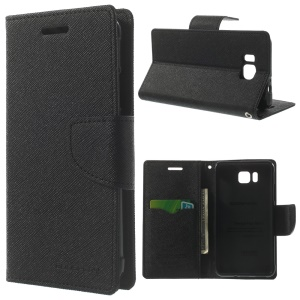 Mercury GOOSPERY Fancy Diary Wallet Leather Stand Case for Samsung Galaxy Alpha SM-G850F SM-G850A - Black