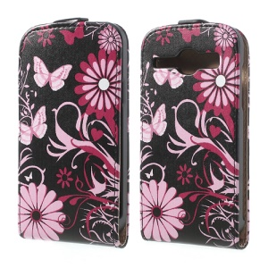 Butterfly Floral Vertical Leather Flip Case for Samsung Galaxy Core I8260 I8262