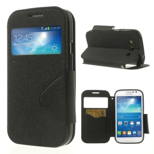 Black Roar Korea Diary View Window Leather Case for Samsung Galaxy Grand Neo I9062 / Grand I9082