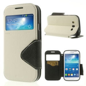 White Roar Korea Diary View Window Leather Case for Samsung Galaxy Grand Neo I9062 / Grand I9082
