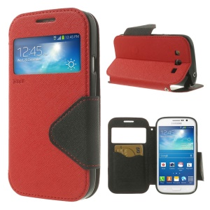 Red Roar Korea Diary View Window Leather Case for Samsung Galaxy Grand Neo I9062 / Grand I9082